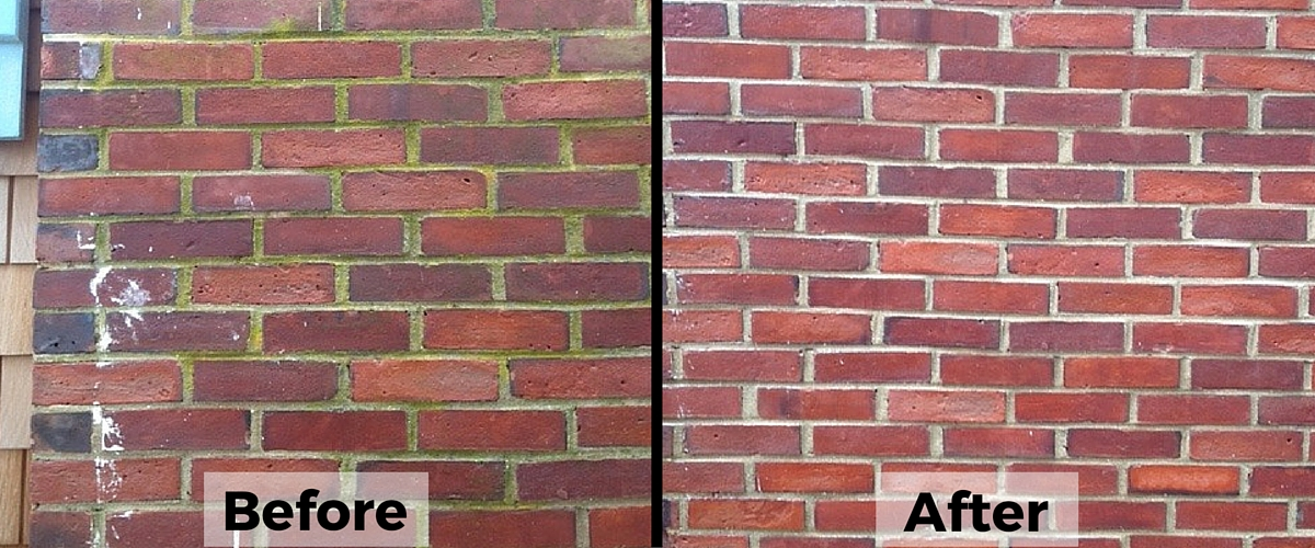 brick power washing
